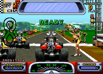 Road Riot 4WD Arcade At the start.