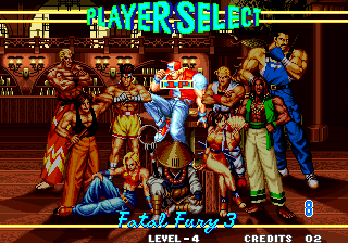 Fatal Fury 3: Road to the Final Victory Arcade Figter selection