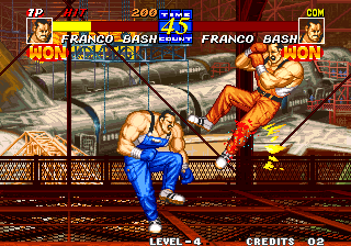 Fatal Fury 3: Road to the Final Victory Arcade Bleeding leg