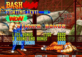 Fatal Fury 3: Road to the Final Victory Arcade Winner bonus