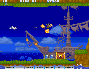 Parodius Arcade Minibird and bee