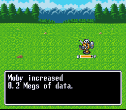 Robotrek SNES Experience is gained in Megs of data