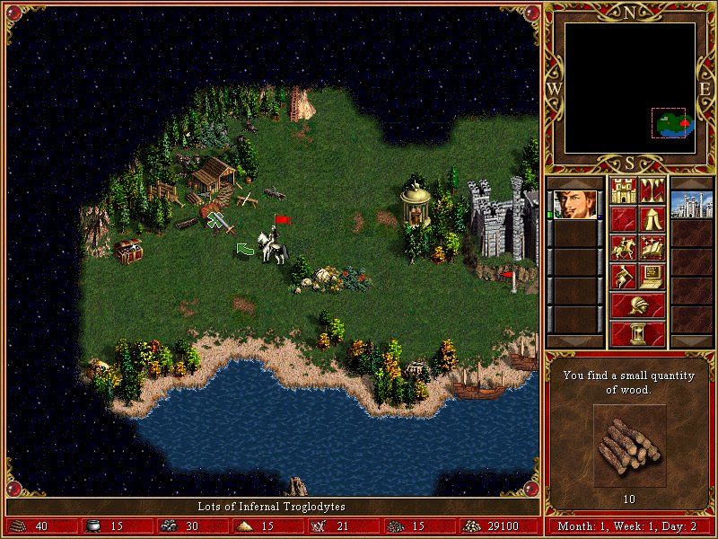 Heroes of Might and Magic III: The Restoration of Erathia Windows taking the mill