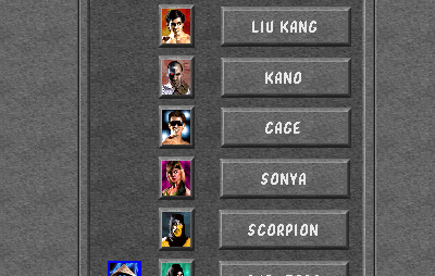 Mortal Kombat Arcade Ladder