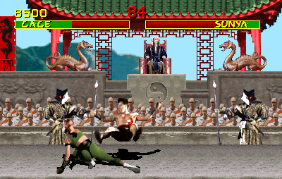 Mortal Kombat Arcade Cage was pretty surprised