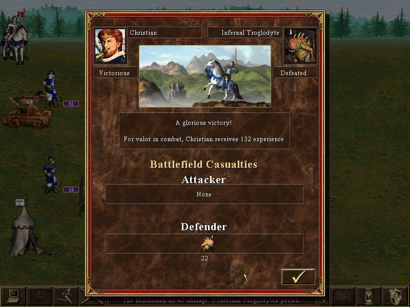 Heroes of Might and Magic III: The Restoration of Erathia Windows victory (but that is only a battle, not a war)