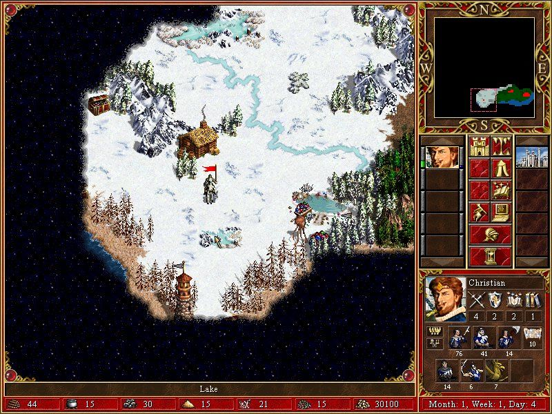 Heroes of Might and Magic III: The Restoration of Erathia Windows snowland