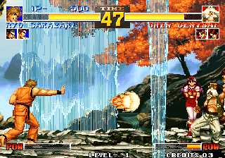 The King of Fighters '95 Arcade Fireball