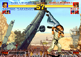 The King of Fighters '95 Arcade Judo moves