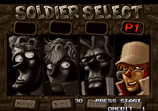 Metal Slug X Arcade Player select