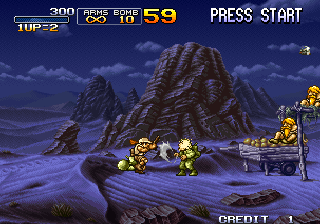 Metal Slug X Arcade Game starts