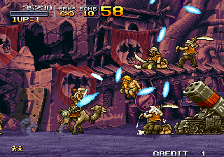 Metal Slug X Arcade Mobile rockets launcher