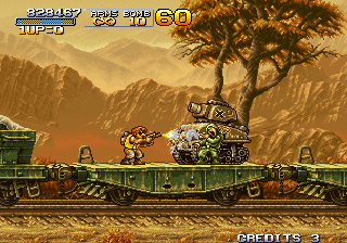 Metal Slug X Arcade Tank to destroy