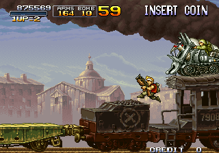 Metal Slug X Arcade Armored tank to destroy