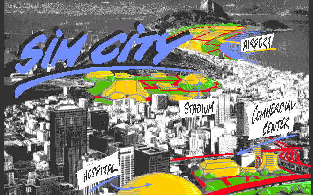 SimCity CDTV Title screen