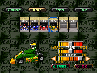 Ayrton Senna Kart Duel 2 PlayStation Kart selection and customization... Huh? Are there two secret karts?