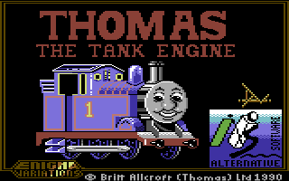Thomas the Tank Engine's Fun With Words Commodore 64 Loading Screen.