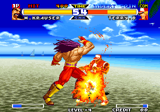 Real Bout Fatal Fury Special Arcade Krauser's fireball