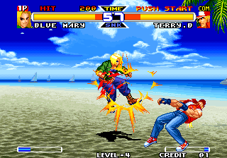 Real Bout Fatal Fury Special Arcade Mary has little trouble