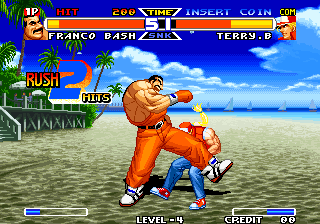 Real Bout Fatal Fury Special Arcade Franco's low kick. Poor Terry