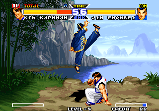 Real Bout Fatal Fury Special Arcade Kim vs Jin Chonrei