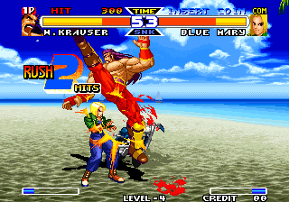Real Bout Fatal Fury Special Arcade Spinning kick
