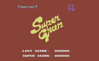 Super Gran Commodore 64 Title Screen.