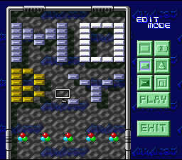 Arkanoid: Doh It Again SNES The editor lets you design your own level