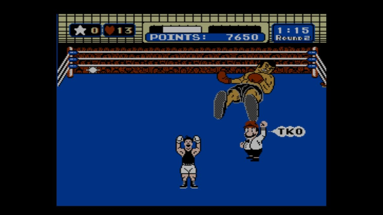Mike Tyson's Punch-Out!! Wii U And Mario calls it, TKO!