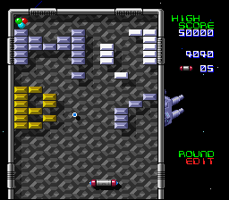 Arkanoid: Doh It Again SNES Playing my custom level