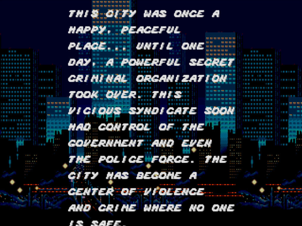 Streets of Rage Windows Story