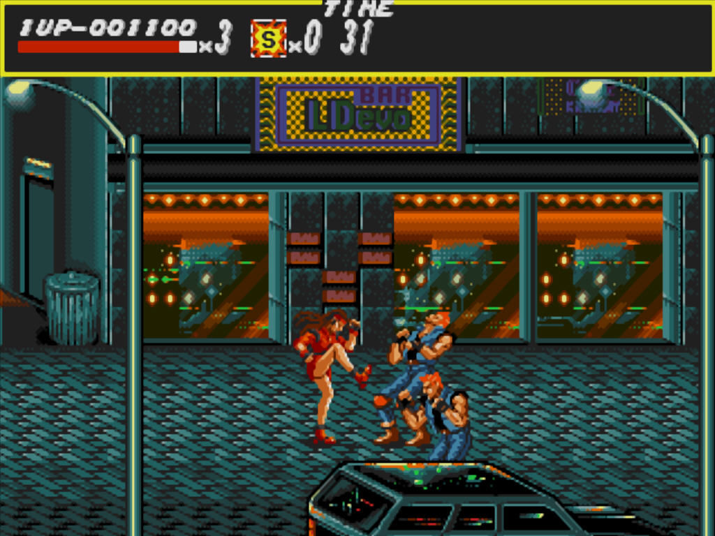 Streets of Rage Windows Start of the game
