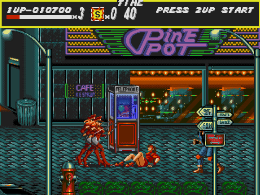 Streets of Rage Windows Gals with whips