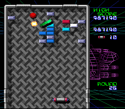 Arkanoid: Doh It Again SNES The M power-up makes a megaball which doesn't stop when it hits a block, unless it's gold.