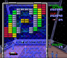 Arkanoid: Doh It Again SNES A big blue level