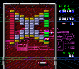 Arkanoid: Doh It Again SNES Falling power-up pellets!
