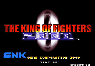 The King of Fighters 2000 Arcade Title screen