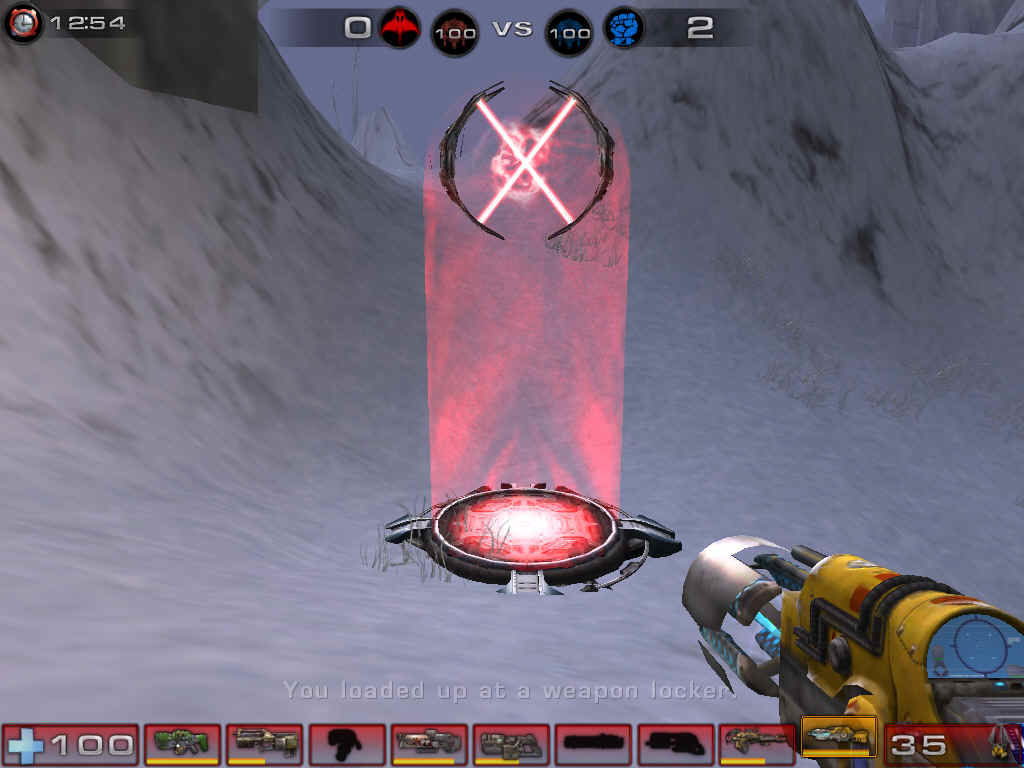 Unreal Tournament 2004 Windows This is a power node; if it's red, it belongs to the red team, and blue belongs to the blue team.