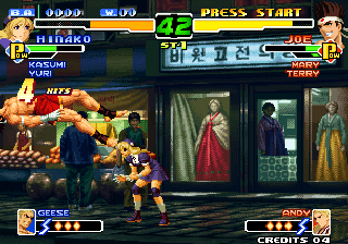 The King of Fighters 2000 Arcade Hinako throws Joe