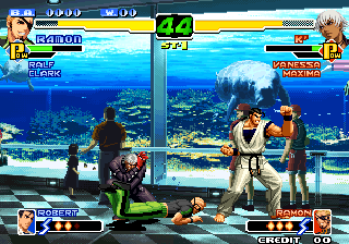 The King of Fighters 2000 Arcade Garcia in training suit