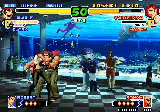 The King of Fighters 2000 Arcade Vanessa's kiss