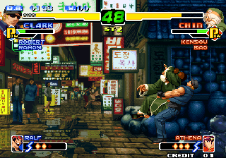 The King of Fighters 2000 Arcade Old Chin has troubles