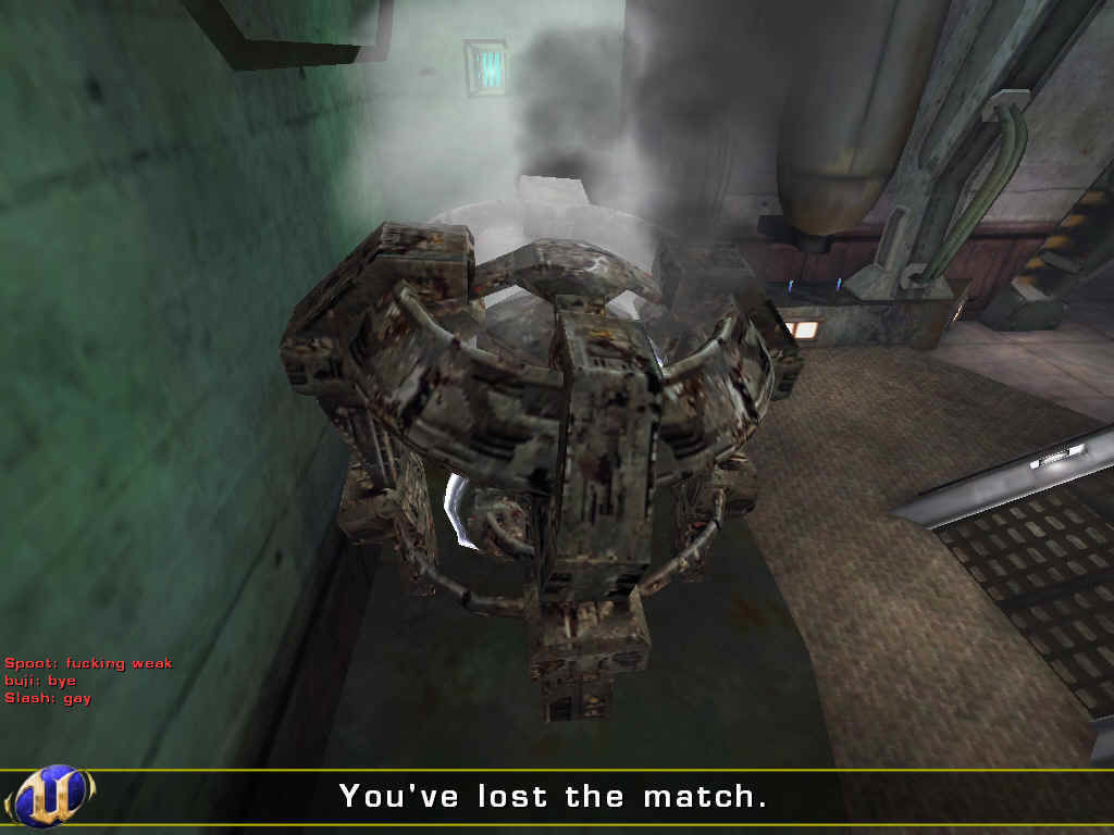 Unreal Tournament 2004 Windows Damn, we lost that match, because our power core lost health and gave out.