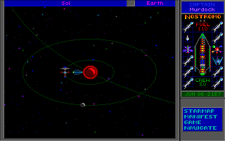 Star Control II DOS Orbiting the space station. All your journeys begin here
