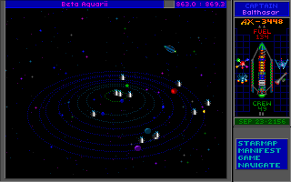 Star Control II DOS Departing a busy star system