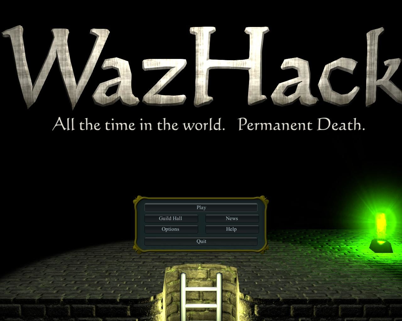 WazHack Windows Main menu.