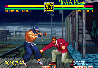 Art of Fighting 3: The Path of The Warrior Arcade Low punch.