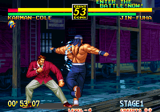 Art of Fighting 3: The Path of The Warrior Arcade Spinning and punching.