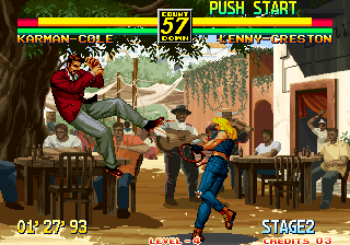 Art of Fighting 3: The Path of The Warrior Arcade Knocking you through the air.