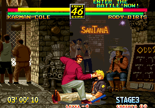 Art of Fighting 3: The Path of The Warrior Arcade Another punch when down.